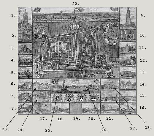 Map of Delft, 1667  Dirck Van Bleyswyck's Kaart Figuratief