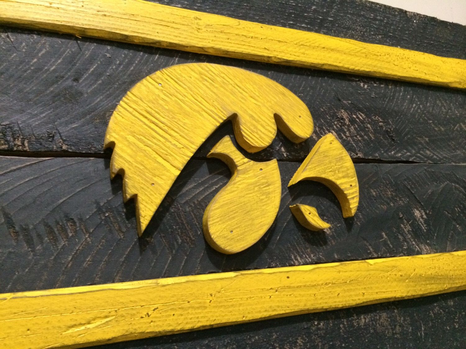 A personal favorite from my etsy shop for Iowa hawkeye decor