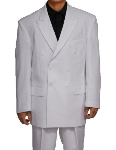 877171cd1dc5 New Era Factory Outlet New Double Breasted (DB) White Men's Business Dress  Suit at Amazon Men's Clothing store: Business Suit Pants Sets