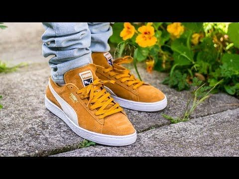 86950e40931b7 Puma Suede Classic Inca Gold On Feet Sneaker Review | shoes in 2019 ...