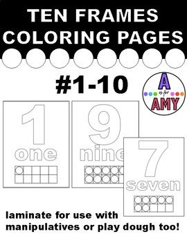 These coloring pages are great for working on counting, 1