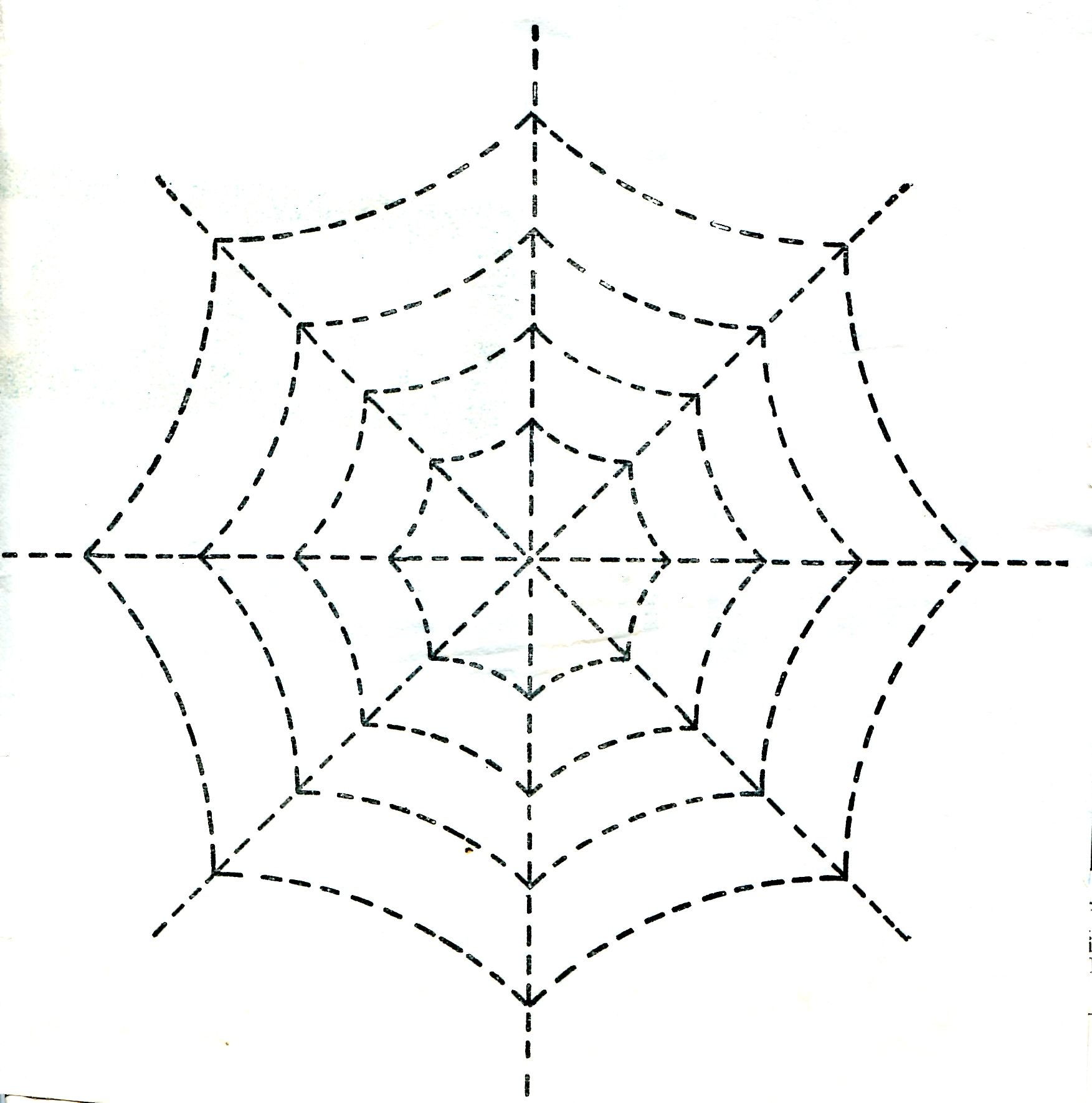 Traceable Quilting Templates : quilt pattern spider web Vintage Crafts and More - Halloween Spider Web Quilting Pattern ...