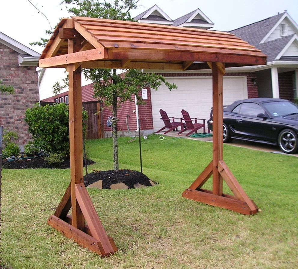 Free standing porch swing plans patio pinterest for Lawn swing plans free
