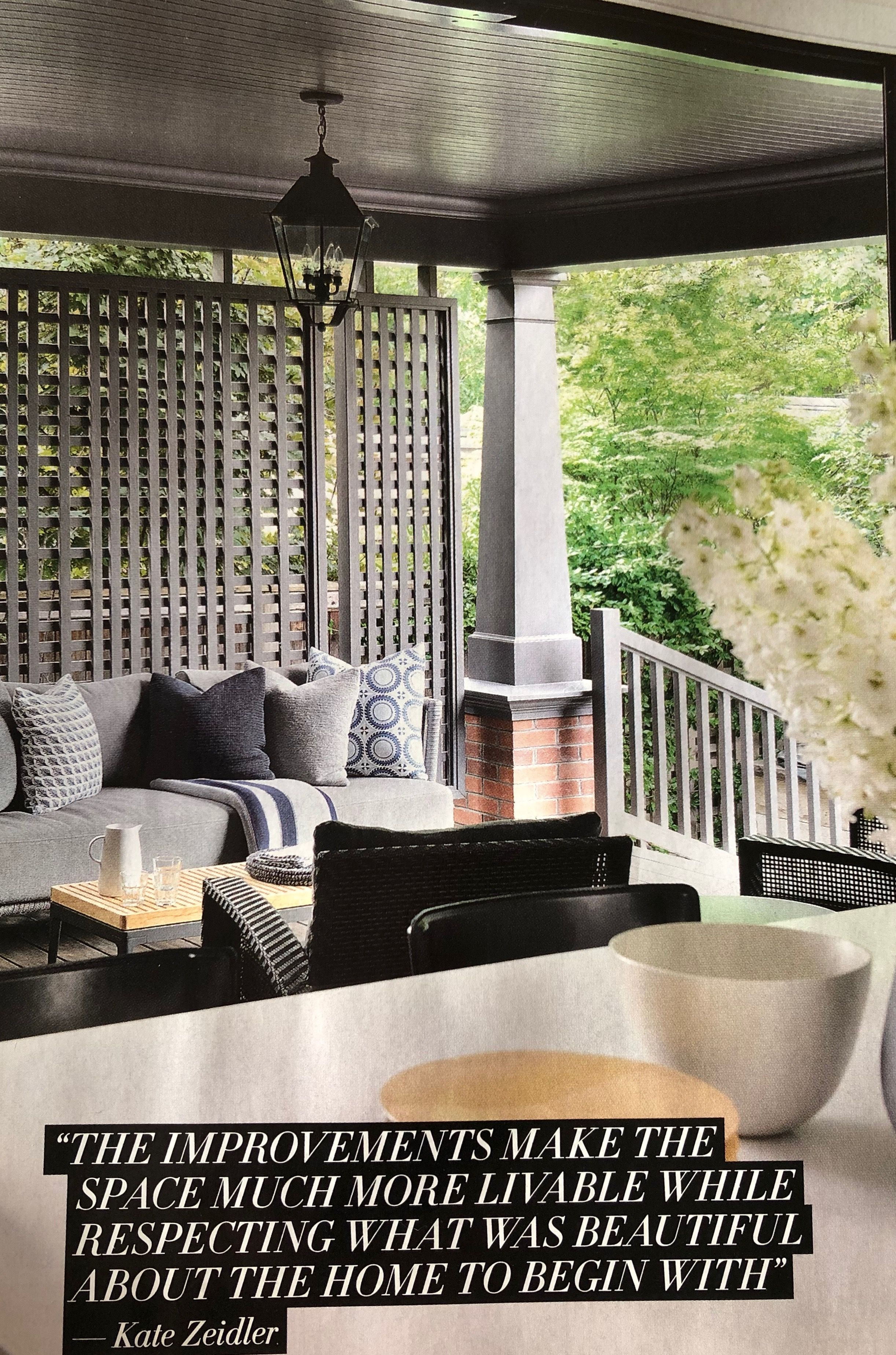 Add privacy screens to side of back porch | Indoor outdoor ...