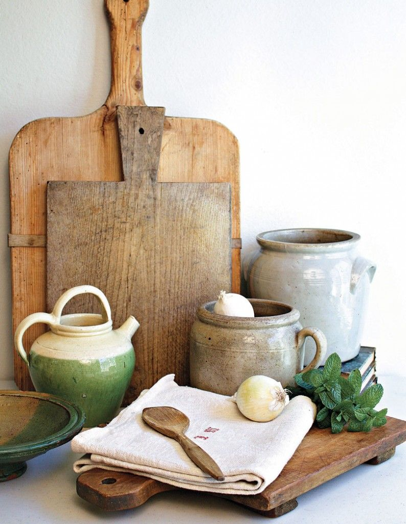 A Matter of Taste: French Country Kitchen Antiques - Romantic Homes