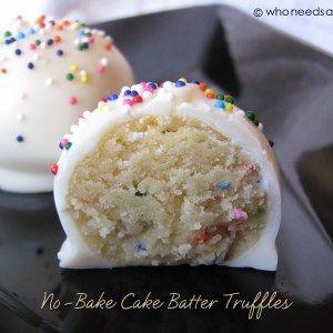 NoBake Cake Batter Truffles Recipes Pinterest Cake batter