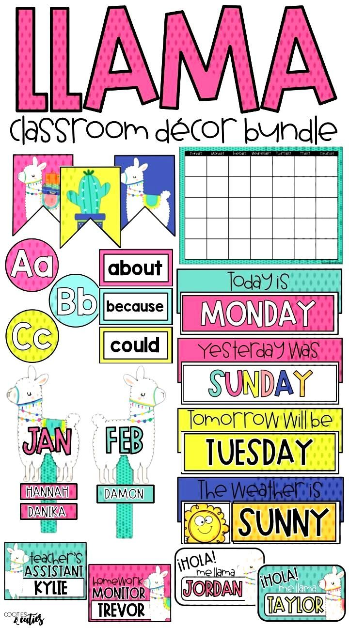 Llama Classroom Decor | Llama Decor | Editable Growing Bundle -   -
