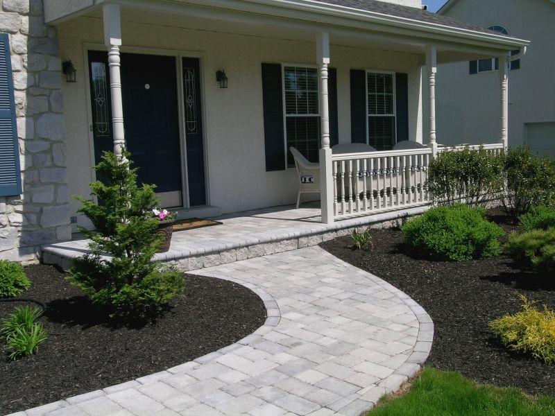 Front porch and sidewalk ideas custom patios walkways for Home walkway ideas