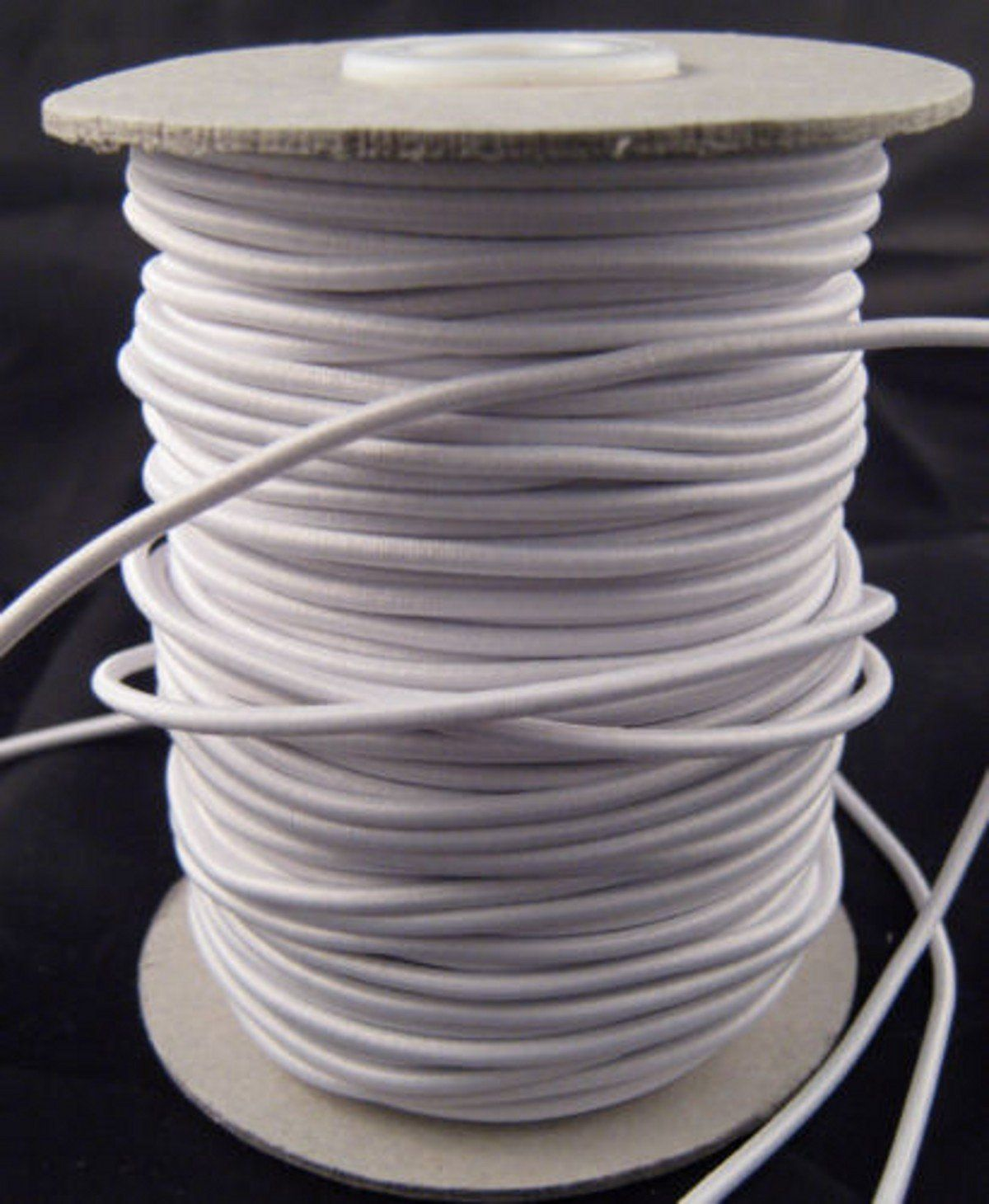 Chengyida 1 Full Roll 55 Yards White Round Elastic Cord Rope
