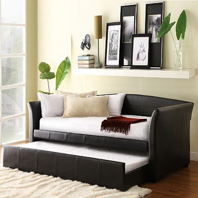 HomeVance Myra Daybed and Trundle, White Daybed, Future house and