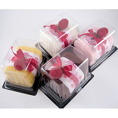 Cherry Cake Towel With PVC Gift Box - Set of 2 (More Colors) – US$ 6.99