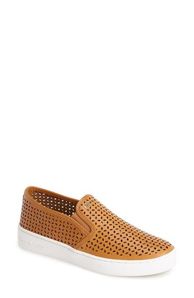 fb0d2c97 MICHAEL Michael Kors 'Olivia' Perforated Leather Slip-On Sneaker (Women)  available at #Nordstrom