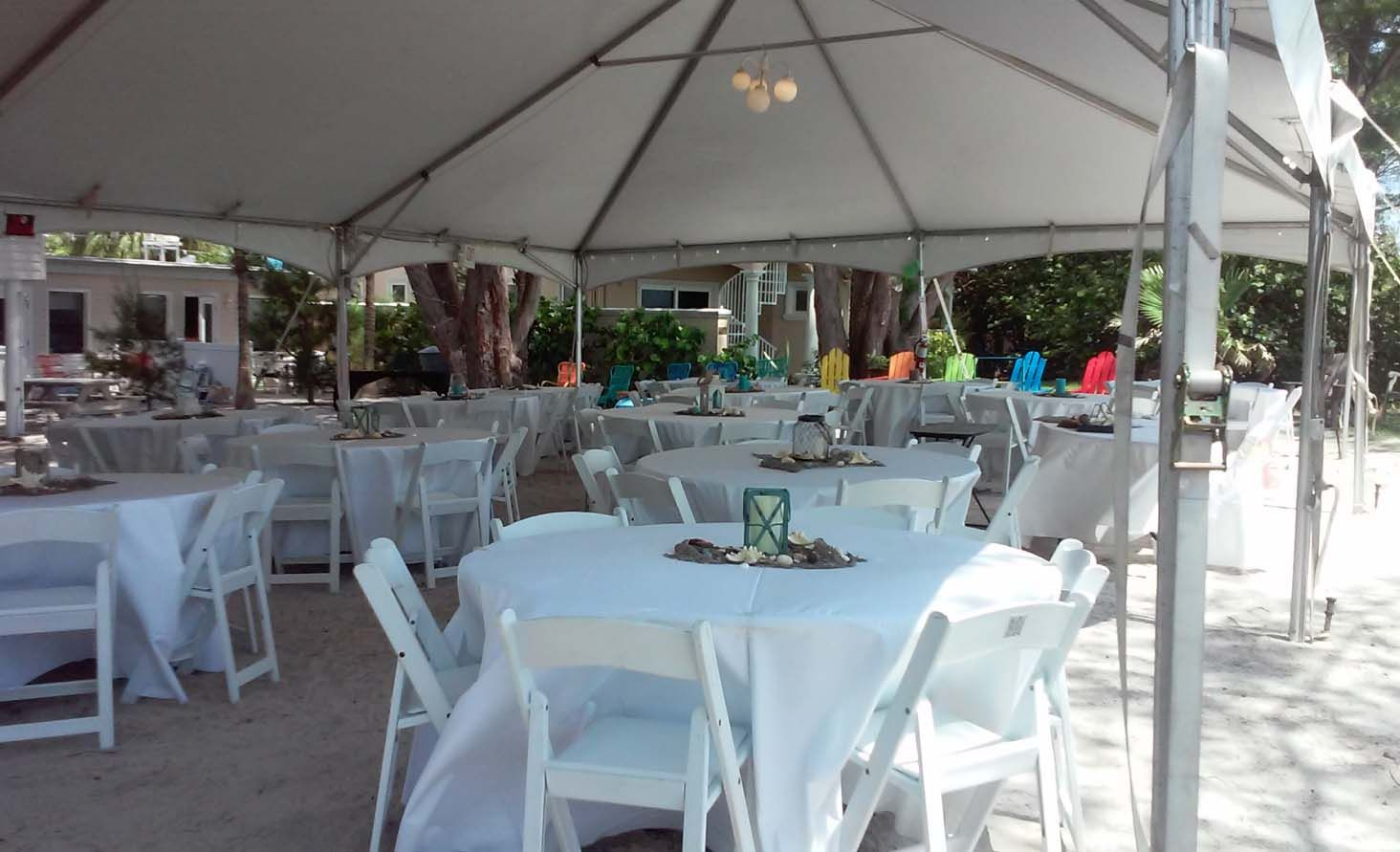 Beach Wedding Reception Style With A Tent To Keep Cool In The