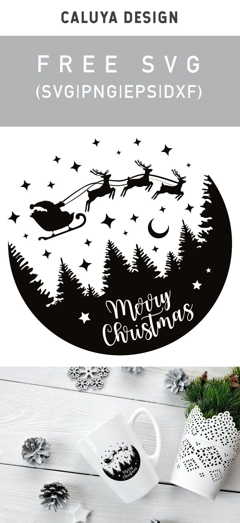 Photo of Free Christmas Snow Globe SVG Cut File