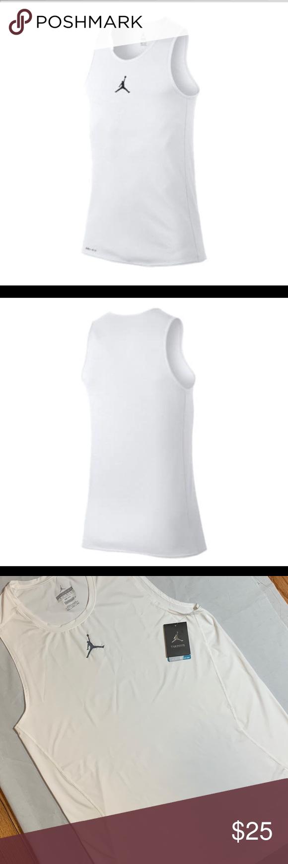 f5644d44ea6ddf Mens Jordan Rise Dry Fit tank top shirt 4XL This 🆕 white Jordan tank is