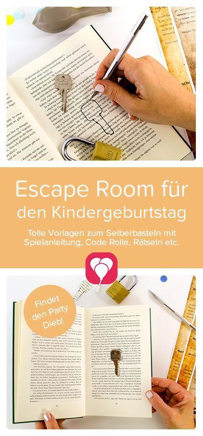 Escape Room für Kinder - Spielanleitung und Tipps #geburtstagskuchenkinder