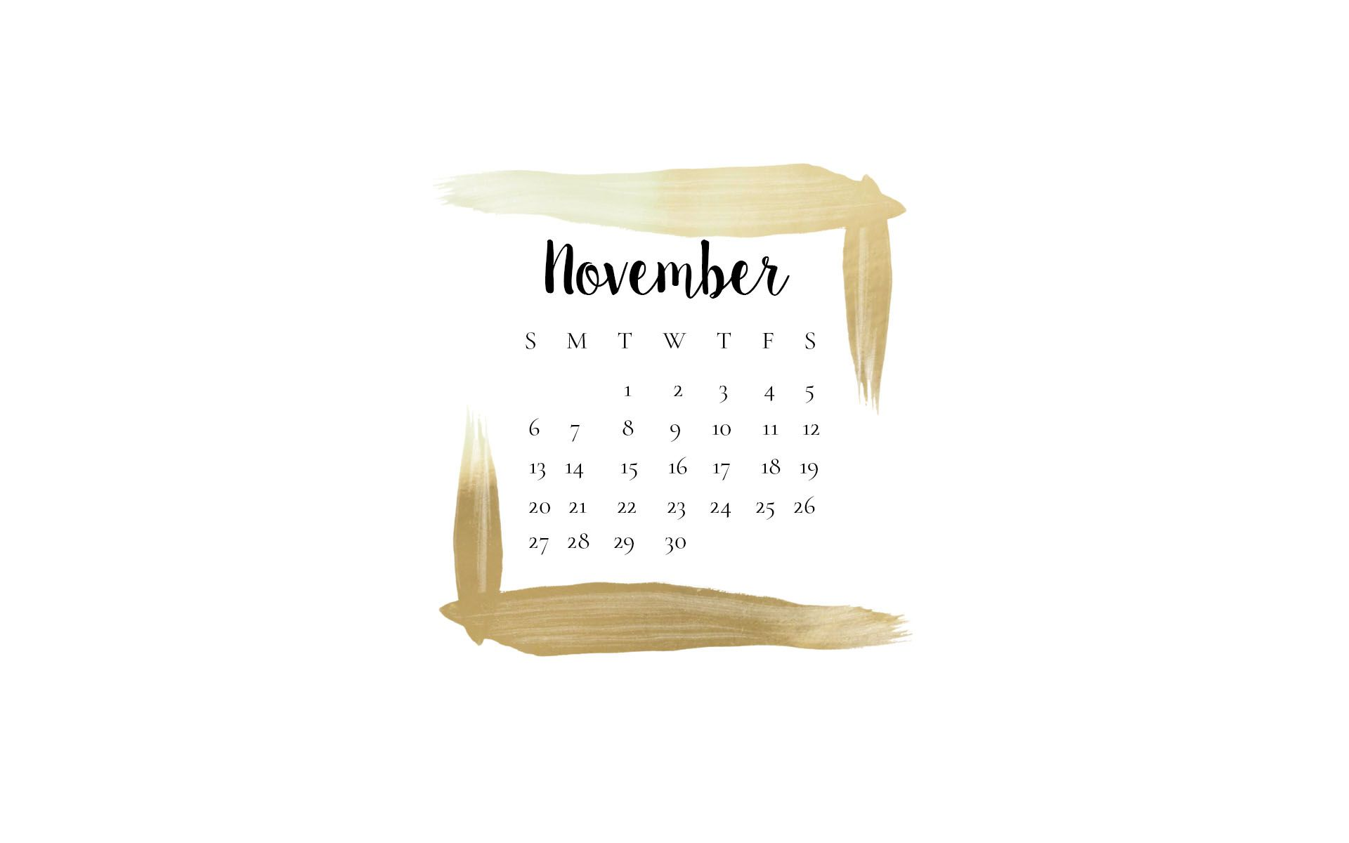 FREE November Desktop Wallpapers // Beauty and the Chic
