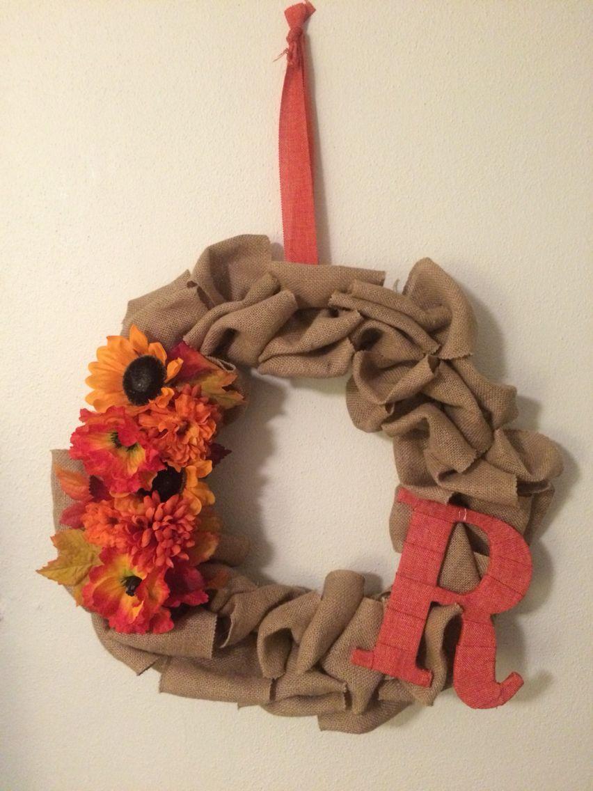 Pinterest win! First wreath... Not upset at all