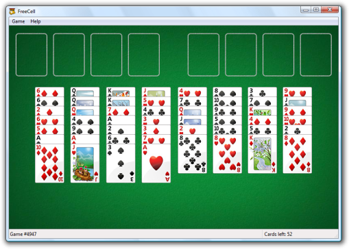 I love playing FreeCell. Solitaire card game, Classic