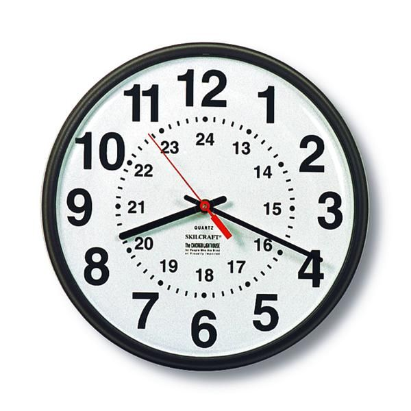 The Value Of 20 Minutes A Day 24 Hour Clock Wall Clock Analog Clock