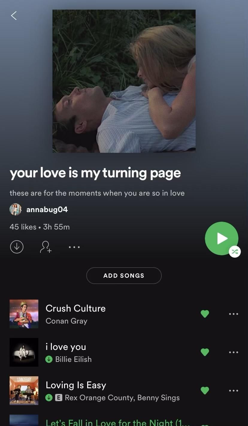 your love is my turning page on Spotify