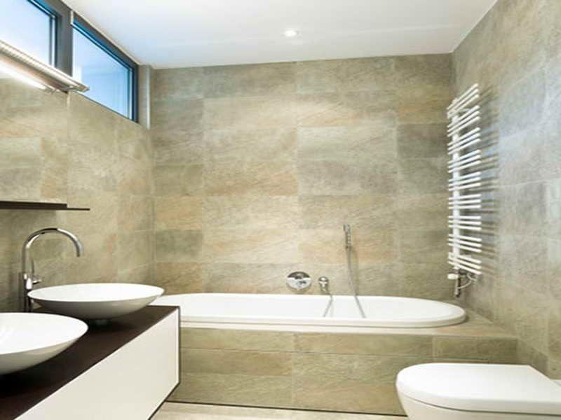 Image result for stone tile bathroom | Half Bath | Pinterest ...