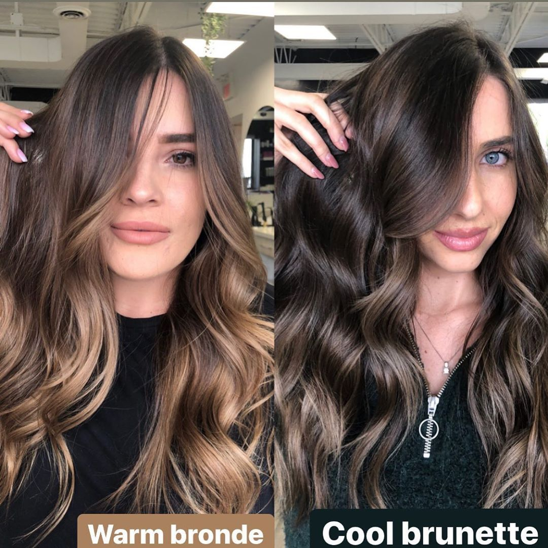 Brunette Specialist Sharon On Instagram Warm Bronde And Cool Brunette What Works With Your Skin In 2020 Skin Tone Hair Color Brunette Balayage Hair Warm Hair Color