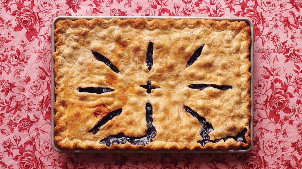Blueberry Slab Pie | Recipe | Slab pie, Blueberry, Summer ...