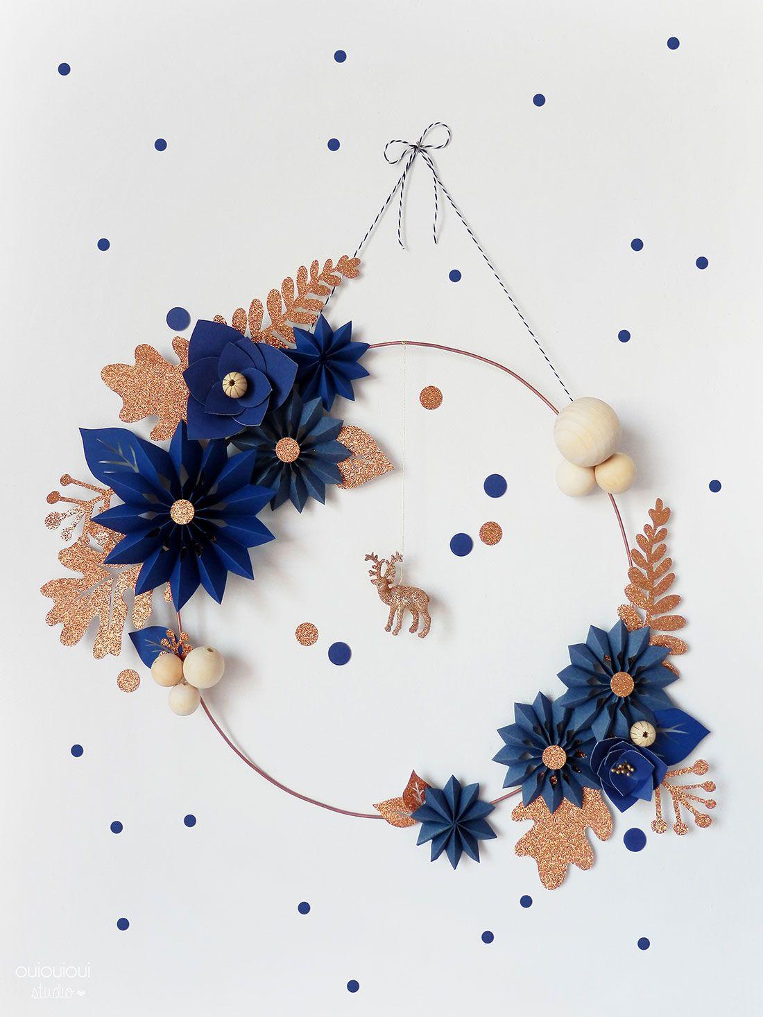DIY  La couronne de Noël par Oui Oui Oui Studio  Wreaths Xmas and
