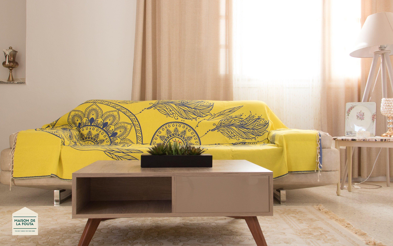 Maison De La Fouta Jete De Canape Dreamcatcher Grande Taille Gris 100 Coton 300x200cm In 2020 Couch Throws Couch House Design