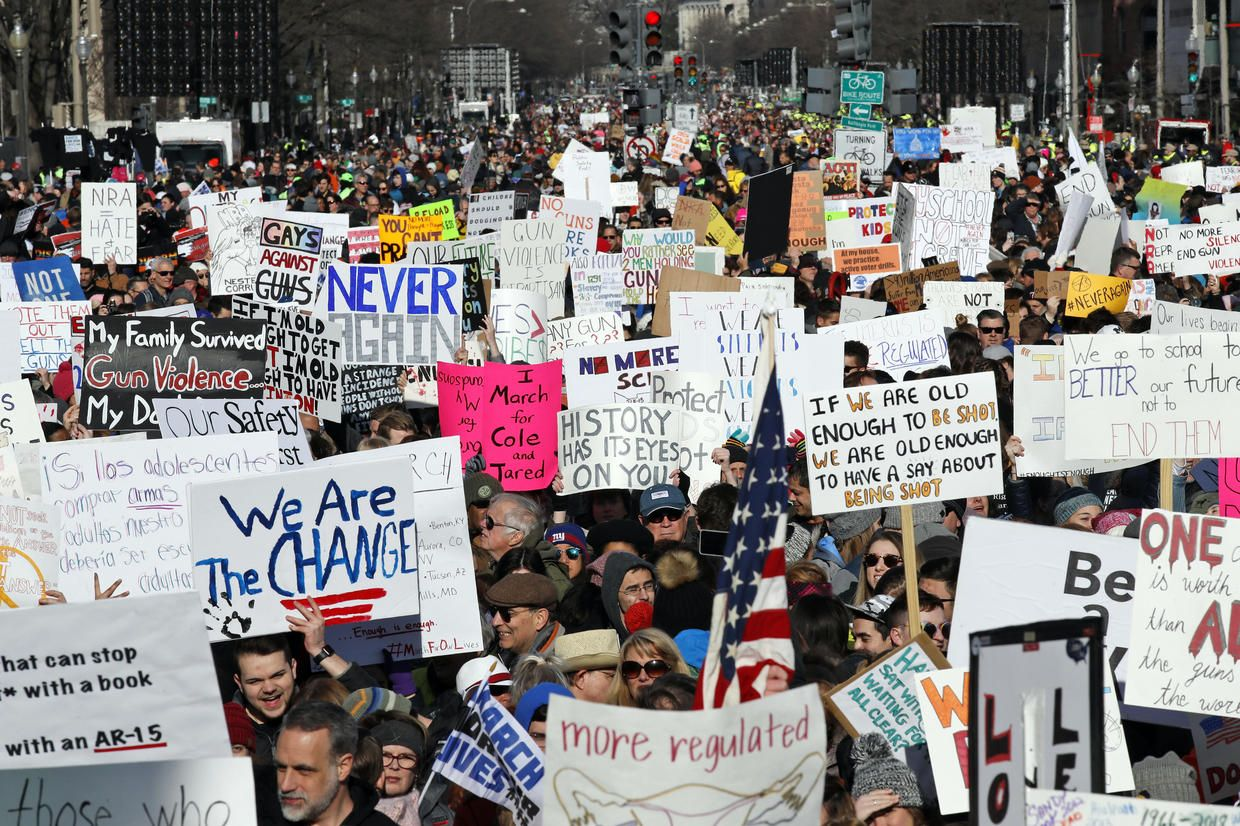 24 Cbs Saturday 3 24 Ideas March For Our Lives Cbs School Shootings