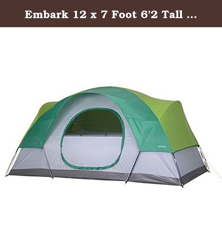 Embark 12 X 7 Foot 6 2 Tall 6 Person Dome Tent The Embark Dome Tent Sleeps 6 Happy Campers 6 2 Center Height And Spacious Family Tent Camping Tent Dome Tent