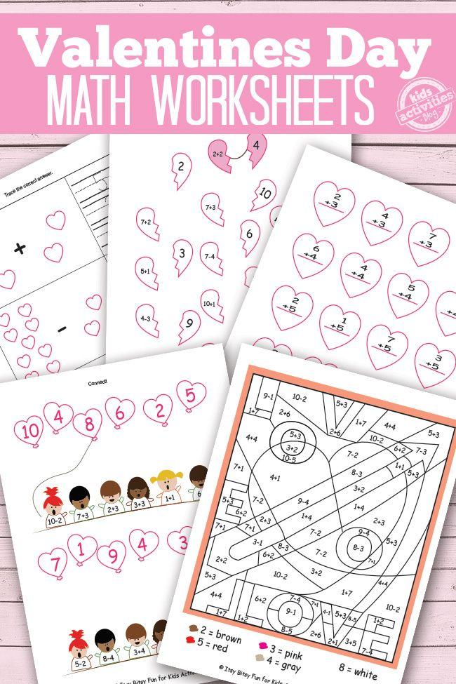 math worksheet : 1000 images about teaching math on pinterest  first grade math  : Valentine Math Worksheets First Grade
