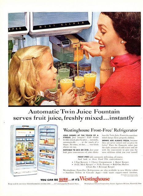 Westinghouse Automatic Juice Twin Fridge