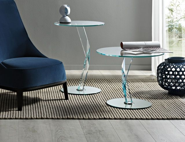 Glass side tables for living room with Italian design | Decolover ...