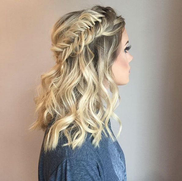 Fishtail Braid Wedding Hairstyles: Beautiful Fishtail Crown Braid