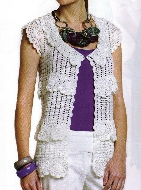 Puntos calados a crochet para chalecos - Imagui   tejido en 2018 ...