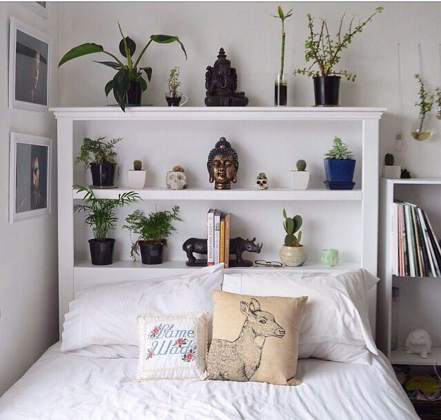 shelf frame bed behind the headboard bookshelf