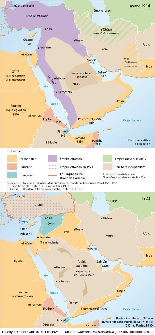 Middle east before 1914 and in 1923 history via maps pinterest middle east before 1914 and in 1923 gumiabroncs Choice Image