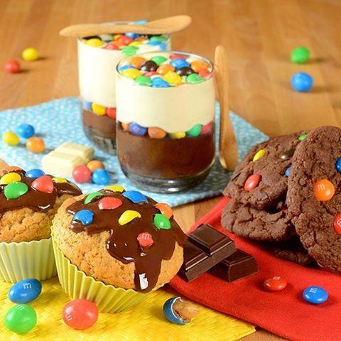 Redécouvrez nos 3 recettes M&M's #peanut, #choco et #crispy grâce à notre édition limitée M&M's MIX !  #mms #mix #mmsmix