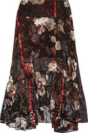 Preen by Thornton Bregazzi Walsh printed devoré silk-blend chiffon midi…