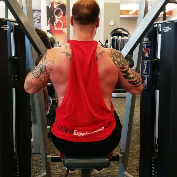 Exercise 6- MTS BILATERAL HIGH ROW !! A FAVORITE ALSO w/ 3-5 Second Negatives !! Sets: 3  Reps: 10...