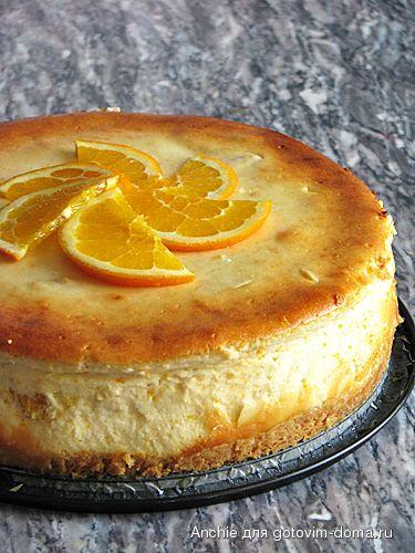 Апельсиновый чизкейк с соусом манго