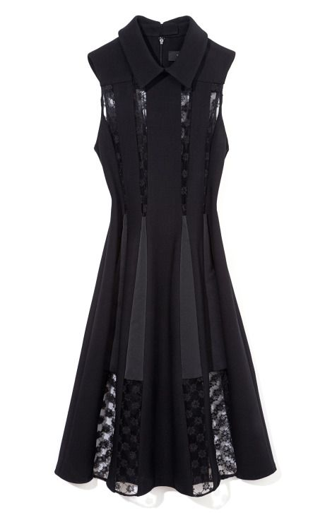 Thakoon Sheer Lace Inset Dress