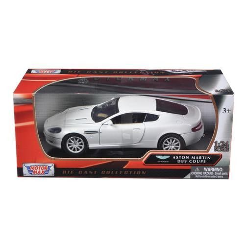 Aston Martin DB9 Coupe White 1/24 Diecast Car Model By