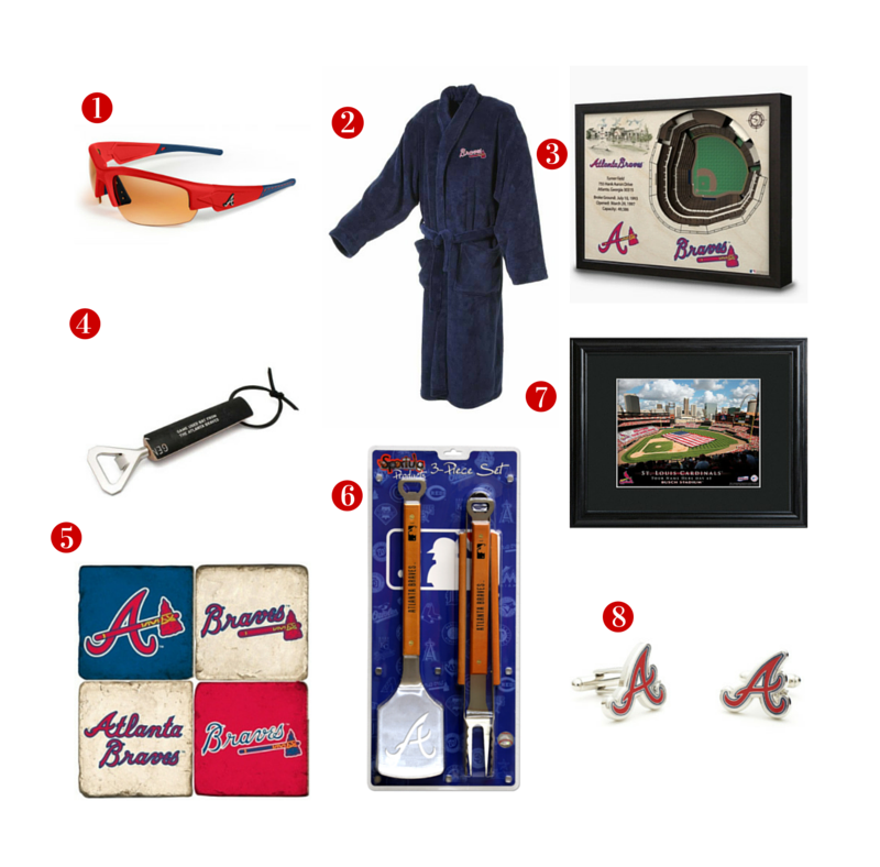 8 Great Father's Day Gift ideas for the avid Atlanta Braves Fan! See all of our Braves gifts. #giftsfordad #fathersday #dadgifts