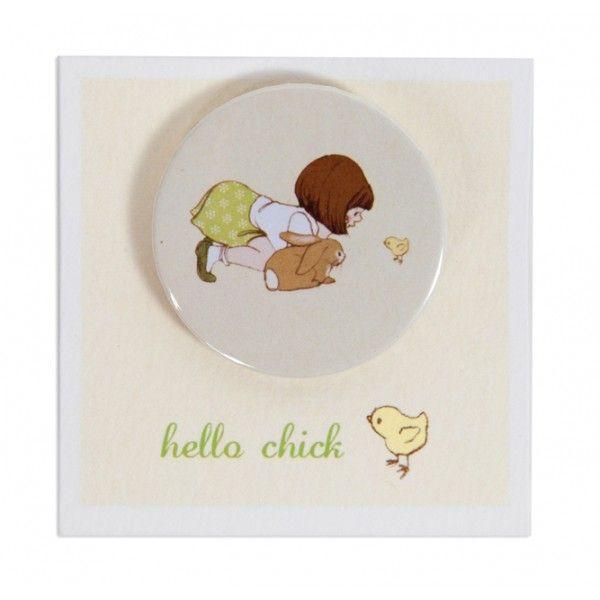 Hello Chick Badge, Belle & Boo
