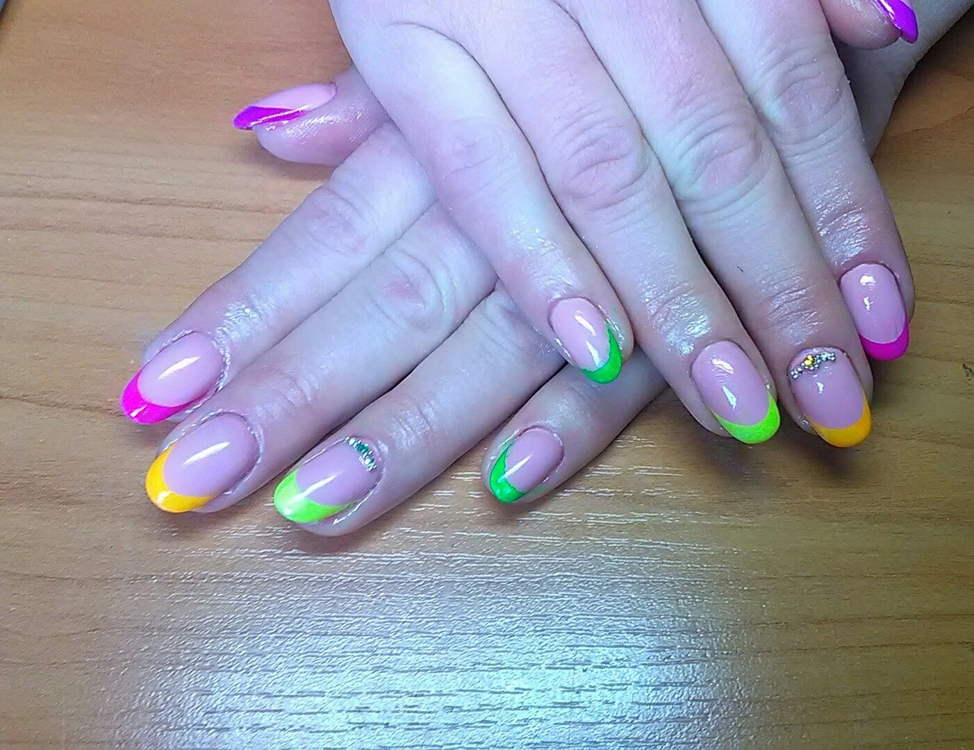 Neon French (With images) | Neon, Nails, Painting
