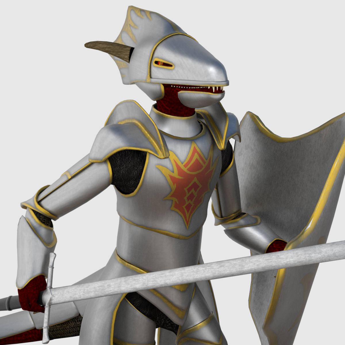 Game Ready 3D Model - Dragonborn Character $45 on CGTrader | Buy 3D