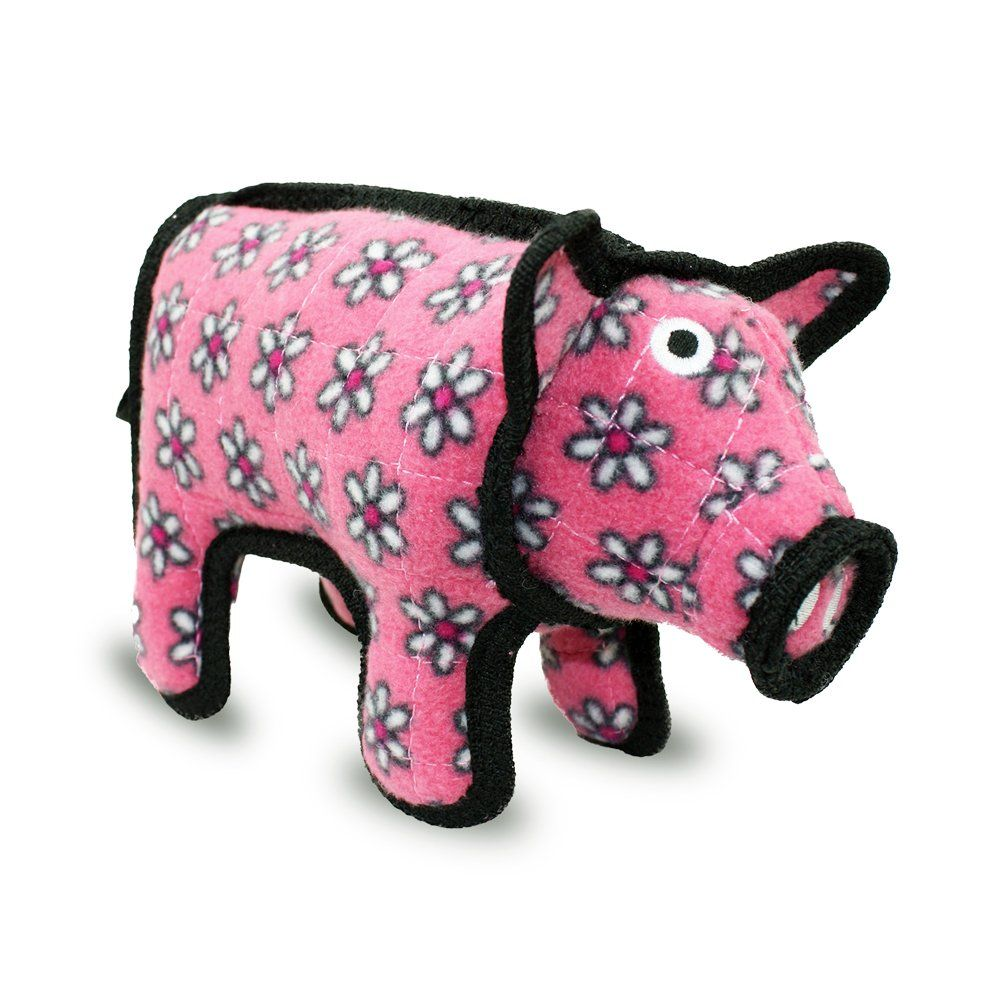 Tuffy Pig Dog Toy Tuffys Dogtoy Dogs Pets Oink Pig Flowers